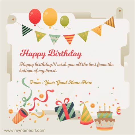 Happy Birthday Card With Name Edit happy birthday greeting card with name edit 101 birthdays