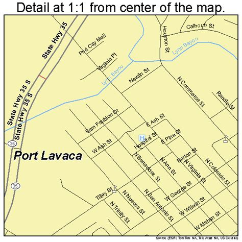 port texas map port lavaca texas map 4858916