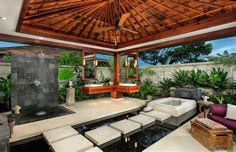 outdoor badezimmer tropical bathroom ideas create a seashore in your