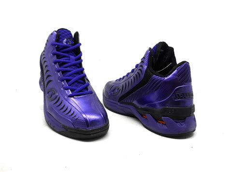 black and purple basketball shoes spalding s threat jimmer fredette basketball shoe