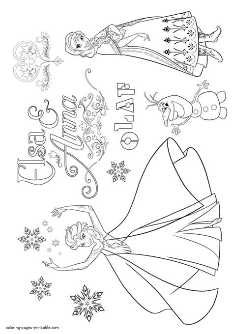 frozen free coloring pages momjunction frozen coloring pages elsa and anna