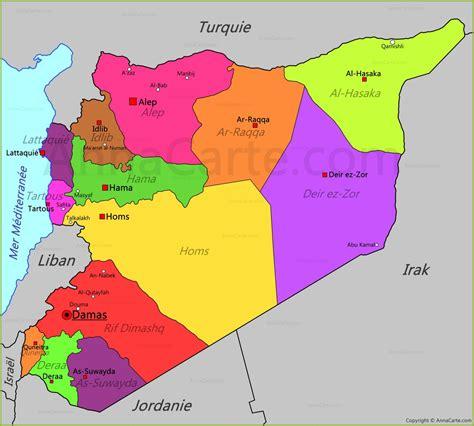 syria map carte syrie annacarte