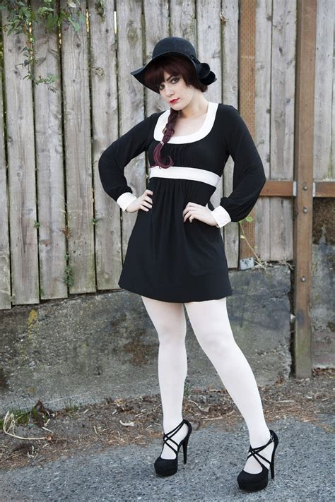 black white dress with tights outfittrends 20 to wear with white tights
