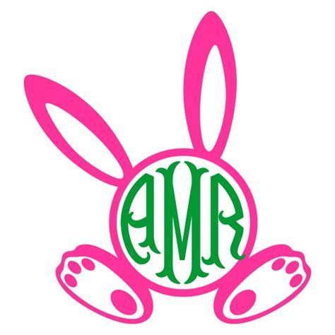 bunny ears round monogram cuttable frames