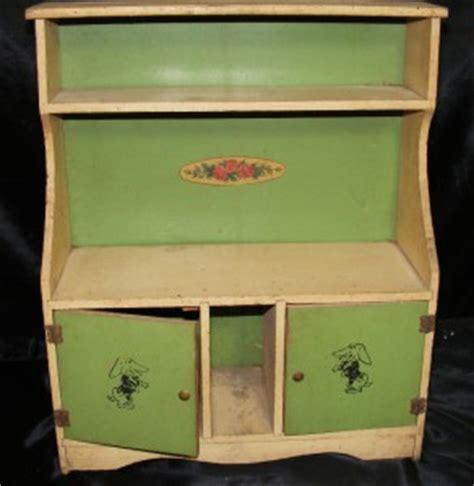 vintage child s play kitchen cupboard hutch wood step vintage antique child size wood play doll kitchen hutch