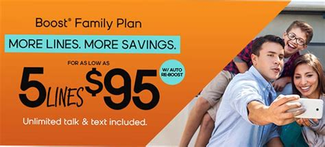 boost mobile family plans offer  lines