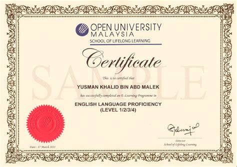 templates for english certificates best photos of certificate language exles english