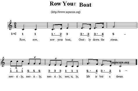 row row your boat do re mi 英文儿歌 row your boat 歌谱简谱网