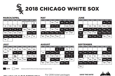 white sox 2018 schedule includes early opening day late