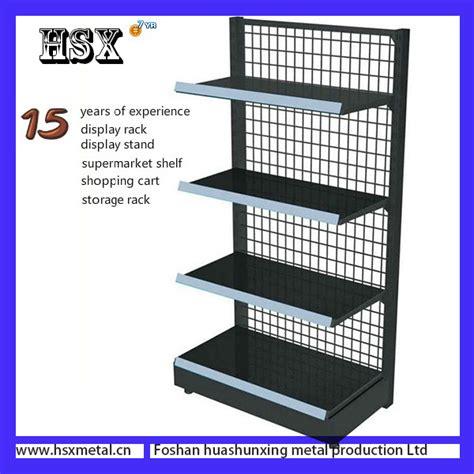 Rak Gondola metal supermarket side wire gondola shelving hsx s1200 corner shelf wall mount shelves