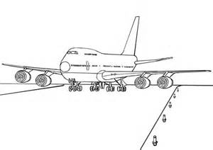 free boeing 747 airplane coloring coloring