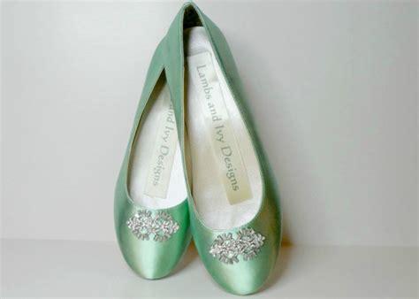 mint green flats shoes mint green flats balletl flats rhinestone ballet flats