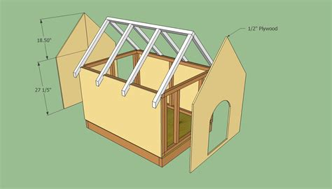plywood dog house plans dog house plans free howtospecialist how to build step by step diy plans