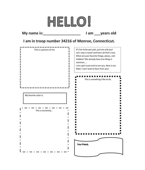 pen pal letter template pen pal letter created by julieblakeman girlscout ideas pen pals created by and