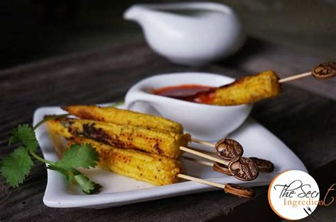 simple indian starters for a dinner baby corn satay easy baby corn starters indian