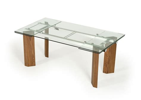 modern glass dining table modrest helena modern extendable glass dining table