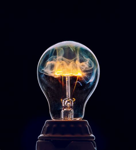 how to photograph a smoking lightbulb