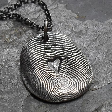 how to make fingerprint jewelry silver fingerprint necklace silver print charm with in