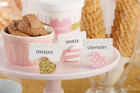 Baby Shower Place Card Holders by How To Throw The Cutest Pink And Gold Baby Shower Kate
