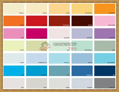 interior house paint colour charts bedroom inspiration database