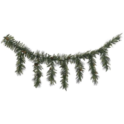 9 foot vallejo mixed berry cone pine icicle garland all