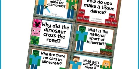 printable minecraft jokes coupons are great atlanta family crafts frugality