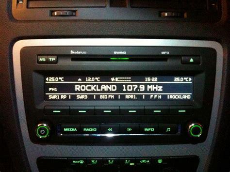 swing radio skoda radio swing aus neuwagen 2009 biete
