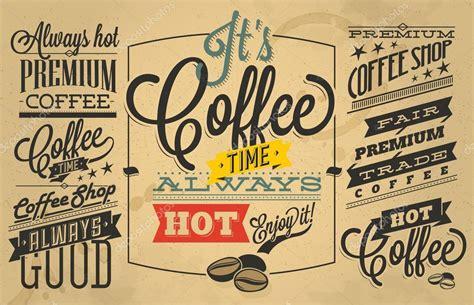 coffee shop retro design coffee shop labels with retro vintage styled design