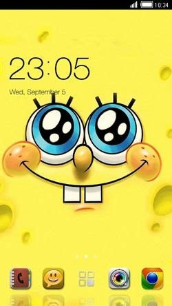 themes android spongebob download free spongebob clauncher android mobile phone