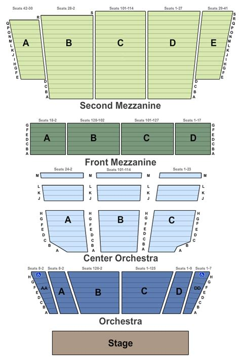 st george theater seating view jerry seinfeld tour tickets seating chart st george