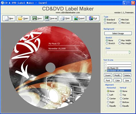 cd label maker software free download cd and dvd label maker 1 2 free download freewarefiles