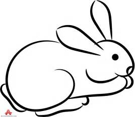 Rabbit Pictures Outline by Outline Rabbit Clipart Best