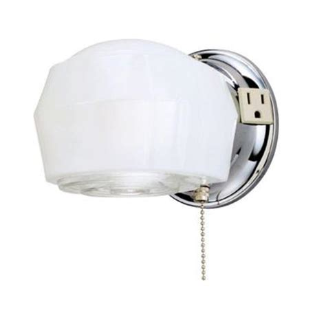 home depot interior light fixtures westinghouse 1 light chrome interior wall fixture 6640200