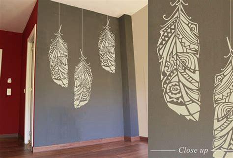 scandinavian wallpaper modern diy art designs forest feathers large decorative scandinavian wall