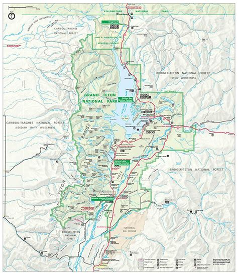 grand map park grand teton national park cing survival national