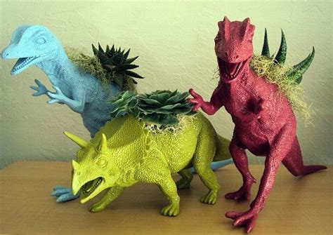 Mainan Dinosaurus By B Toys dinosaur planters such a way to upcycle toys
