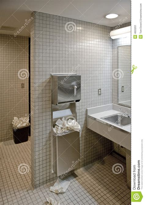 public bathroom stock image image of untidiness towel