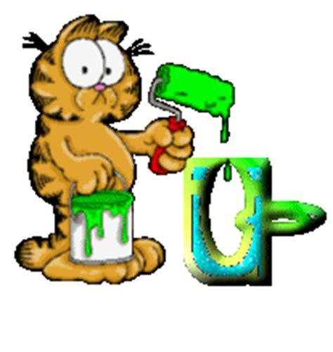 garfield painting garfield painting alphabet graphics and animated gifs
