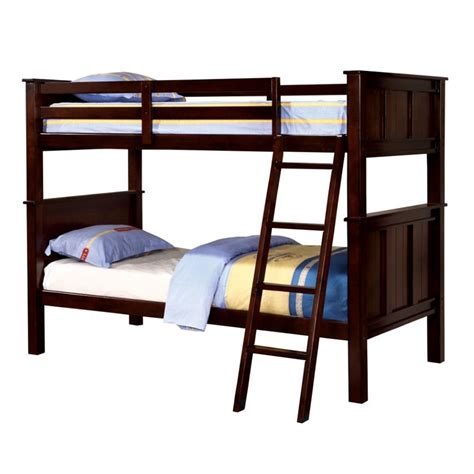 furniture of america bunk beds furniture of america cory twin over twin bunk bed in dark