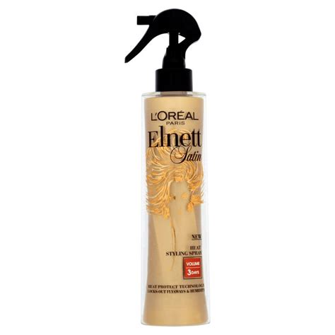 Sho Loreal 170ml l oreal elnett heat protect spray volume 170ml from ocado