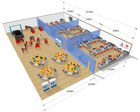 engineering workshop layout design higher education smart classroom