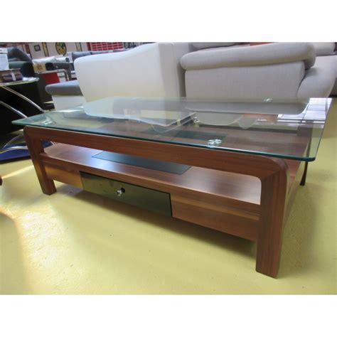table de salon verre et bois promodiscountmeubles