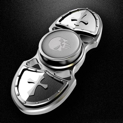 crusader shield style dual spinner fidget