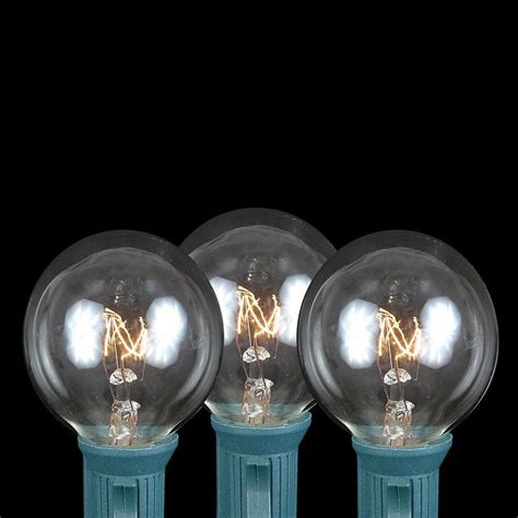 clear g40 globe round outdoor string light set on brown