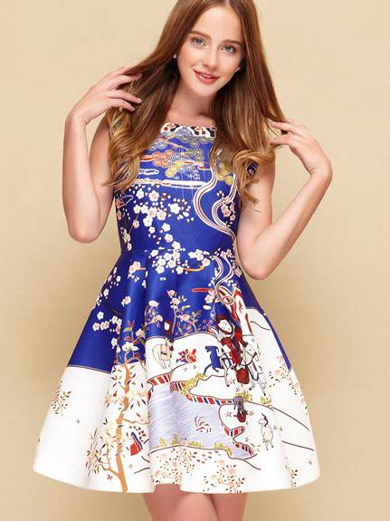 father christmas print skate dress wholesale outlets