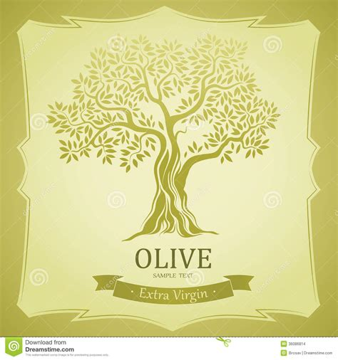 Olive Tree. Olive Oil. Vector Olive Tree.For Labels, Pack