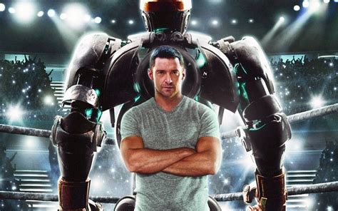 film robot ze stali real steel hugh jackman wallpapers hd wallpapers id 10677