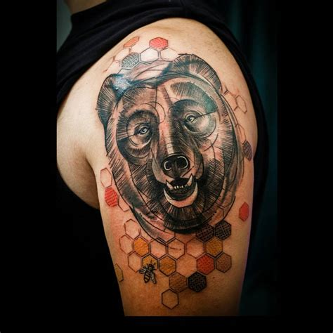 traditional bear tattoo traditional meaning creativefan