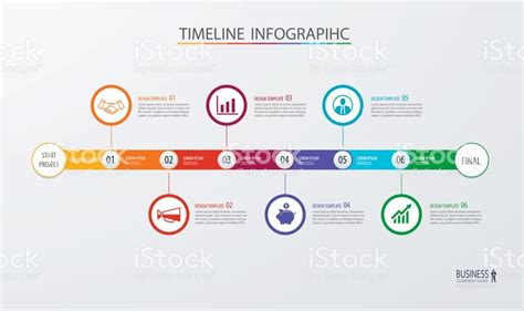 workflow timeline template infographic timeline template business conceptvector can