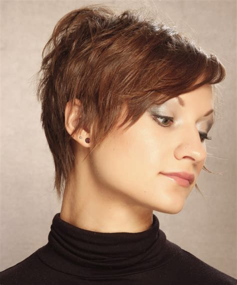 short straight casual hairstyle medium brunette caramel side short hairstyles and haircuts for women in 2018 page 3